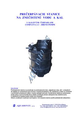 PREČERPÁVAČKY SPLAŠKOV KJE125-C2MG (PDF