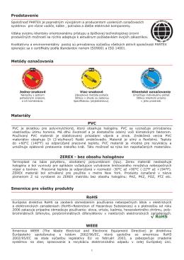 PARTEX prehľad produktov 2010 (SK, pdf, 3,6 MB)