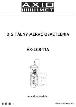 DIGITÁLNY MERAČ OSVETLENIA AX-LCR41A