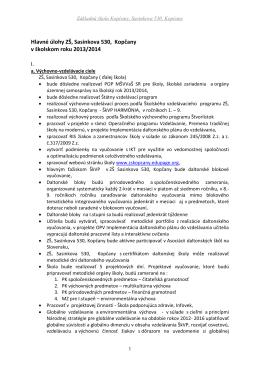 Základná škola Kopčany, Sasinkova 530, Kopčany