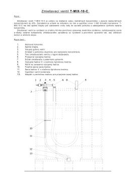 Zmiešavací ventil T-MIX-7