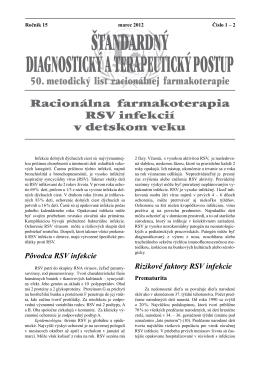 Štandardný diagnostický a terapeutický postup
