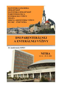 1. oznámenie - Slovenská lekárska spoločnosť