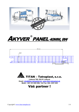 Akyver Panel 40mm, 8W - Titan