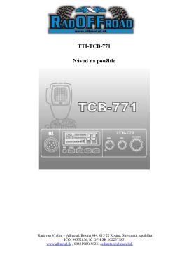 Vysielačka CB TTI 771.docx