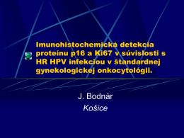 Imonocytochemický dôkaz infekcie HPV - HIS-DG