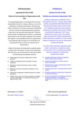 Politika pre pridruženie organizácie k FSC