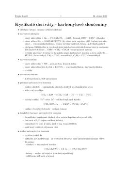 Karbonylové sloučeniny 2