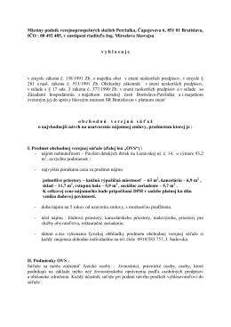 Miestny podnik verejnoprospešných služieb Petržalka, Čapajevova