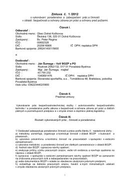 Zmluva č. 1/2012 BOZP - dolne