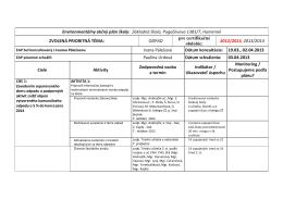 Environmentálny akčný plán školy: Základná škola, Pugaćevova