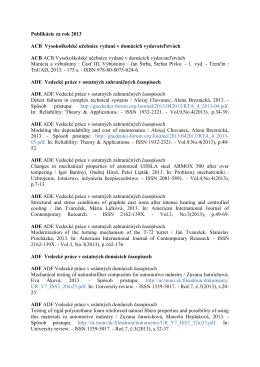 Publikácie za rok 2013 - Fakulta špeciálnej techniky