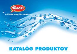 KATALÓG PRODUKTOV - MADEL Slovakia sro