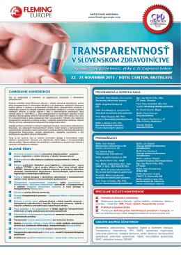 Pozvánka s informáciami o konferencii v pdf.