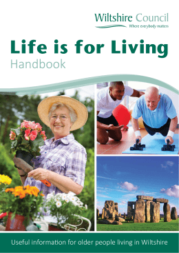 Life is for Living - Wiltshire Council