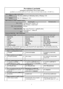 prevadzkovy_poriadok ŠJ - Základná škola, Sľažany 122