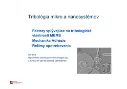 Tribológia mikro a nanosystémov