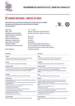 12.09.2014 - Slovenský zväz jachtingu