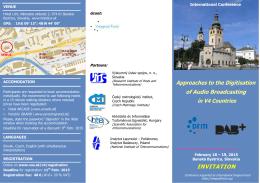 INVITATION - Výskumný ústav spojov, no