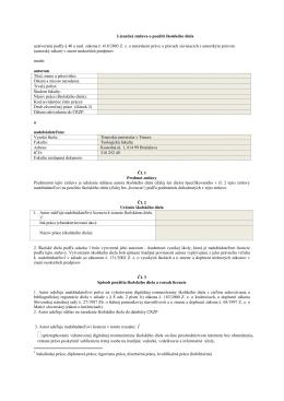 Licenčná zmluva o použití školského diela