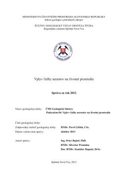 hodnotenie monitorovania za rok 2012 v subsystéme 04