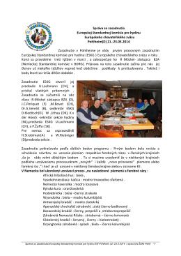 02 Správa zo zasadnutia pracovnej komisie pre štandardy hydiny