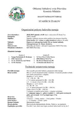 Oblastný futbalový zväz Prievidza Komisia Mládeže STARŠÍCH