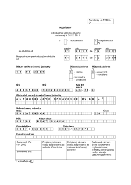 Poznámky k ÚZ AO MV SR za rok 2011 na stiahnutie