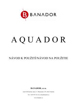 Návod na Aquador - obchod