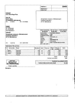 Ivan Galo-Roga Plus Dlhá 58 94901 Nitra SLOVENSKÁ