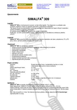 SIMALFA 309 - ALFA Klebstoffe