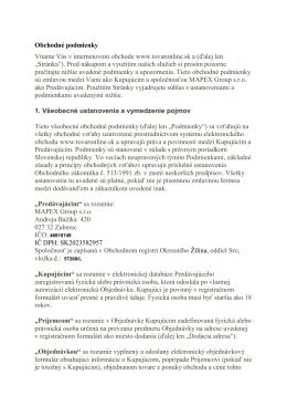 Obchodné podmienky (PDF)