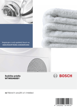 Sušička prádla WTW85460BY