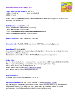Program UPC MOSTY – január 2015
