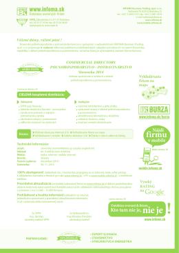 Poľnohospodárstvo - Potravinárstvo - informácie, cenník