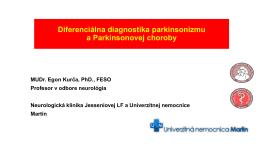 Diferenciálna diagnostika parkinsonizmu a
