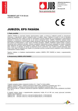 Technický list Jubizol EPS