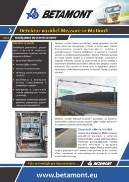 Detektor vozidiel Measure-in-Motion®