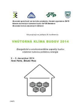 vnútorná klíma budov 2014 - Slovenská spoločnosť pre techniku