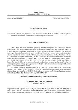 Číslo: 2334/ 2003 - IJ V Zlatých Moravciach