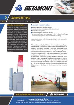 Závora BT-055 - BETAMONT, sro