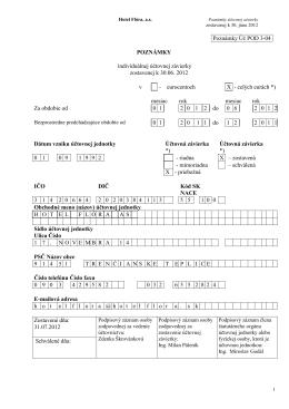 Poznámky k priebežnej účtovnej závierke Hotel Flóra, a.s. k 30.06
