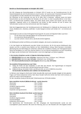 Bericht zur Deutscholympiade im Schuljahr 2011-2012