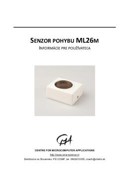 SENZOR POHYBU ML26M