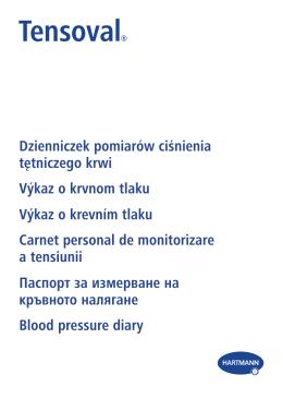 Dzienniczek pomiarów ciśnienia tętniczego krwi Výkaz o