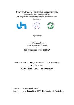 Ústav hydrológie a Geofyzikálny ústav