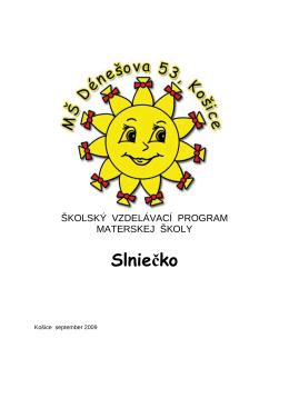 Školský vzdelávací program Slniečko 2013