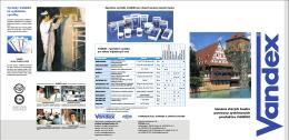 Sanácia star˘ch budov pomocou systémov˘ch produktov VANDEX