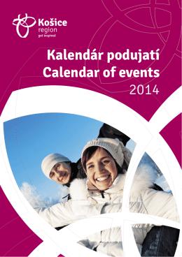 Kalendár podujatí Calendar of events 2014