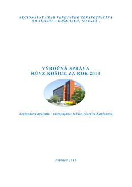 Výročná správa za rok 2014 - Regionálny úrad verejného